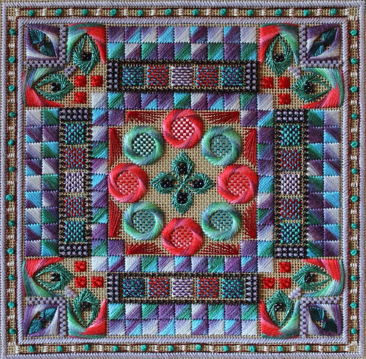 Orna Willis Designs needlepoint with Hilton stitches » Gayle (kit)