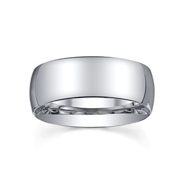 8mm Silver Domed Mens Wedding Ring   Jcpenney