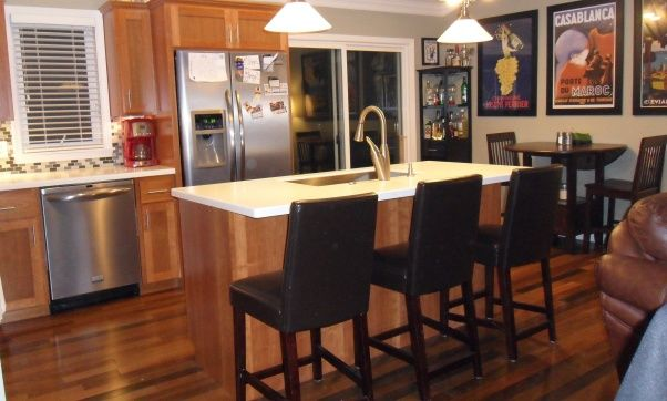 Bi level kitchen renovation future home pinterest for Bi level kitchen remodel ideas