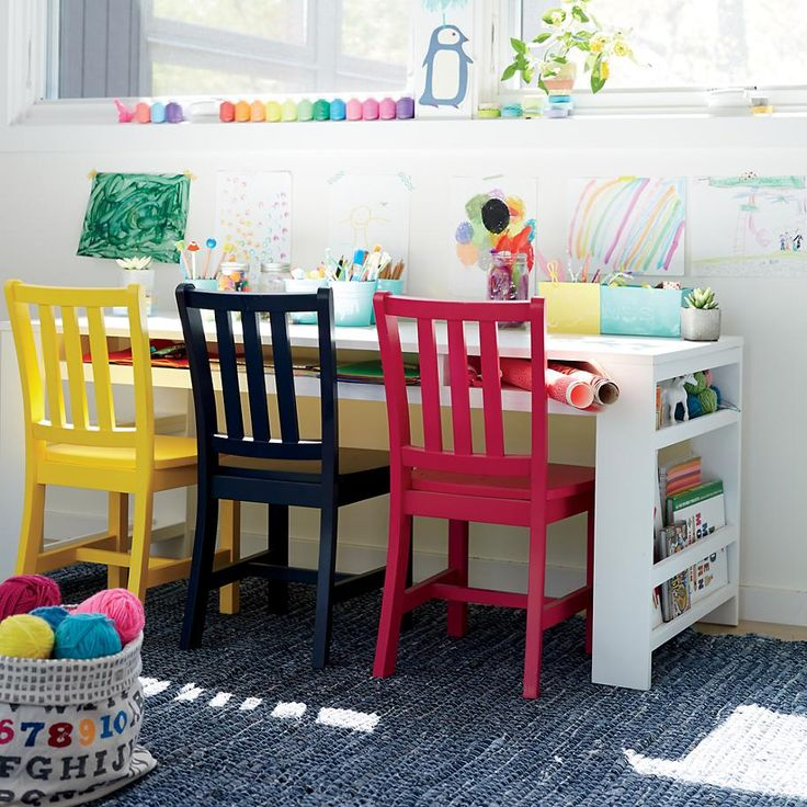 Chairs kids midnight blue wooden parker play chairs the land of nod