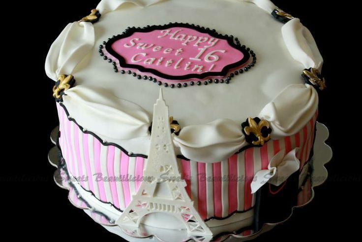 Paris, Sweet 16 birthday cake | Cakes | Pinterest: pinterest.com/pin/492229434244946918