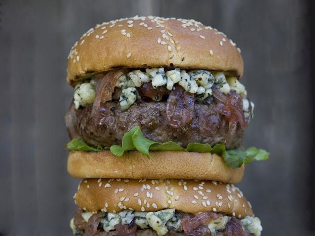 Blue Cheese Burgers | BEEF it's whats for dinner!