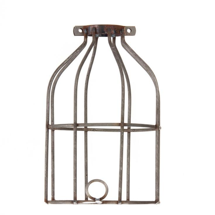 industrial light bulb cage raw metal. Black Bedroom Furniture Sets. Home Design Ideas