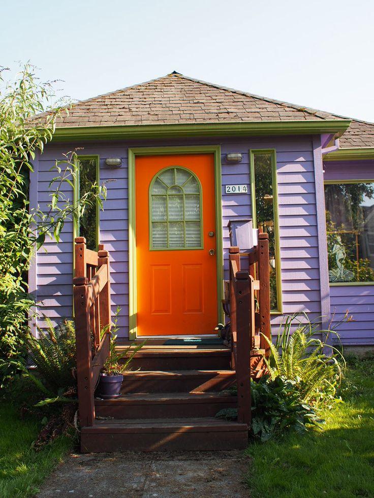 Orange Door Purple House Home By The Sea Exterior