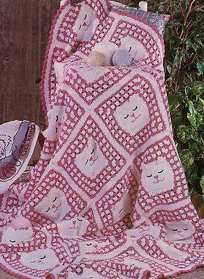 Crochet Cat Afghan Pattern : Granny cat afghan crochet pattern
