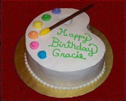 painting cake ideas