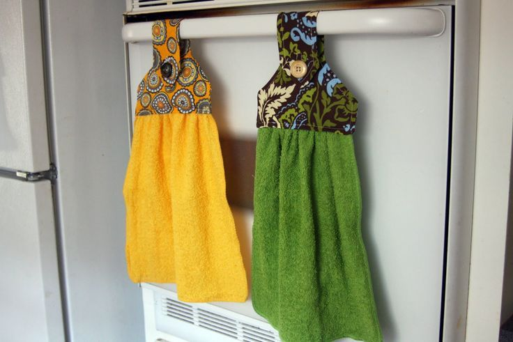 Pin by angela troxler on towels pinterest - Hanging kitchen towel tutorial ...