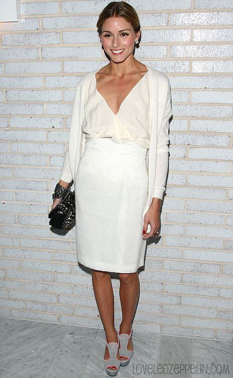 Olivia Palermo in ivory