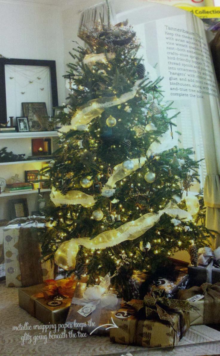 Christmas Tree Natural Elements Seasonal Decorating Pinterest