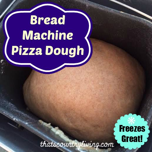 bread machine pizza dough whole wheat