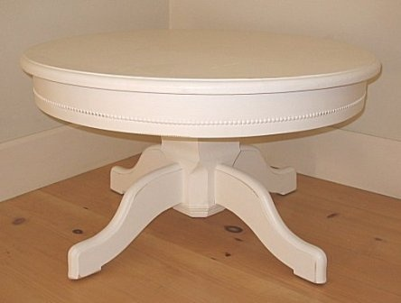 Cottage Pedestal Coffee Table White Cottage Pinterest