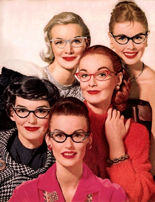 tagged as: vintage. vintage beauty. 1950's. glasses.