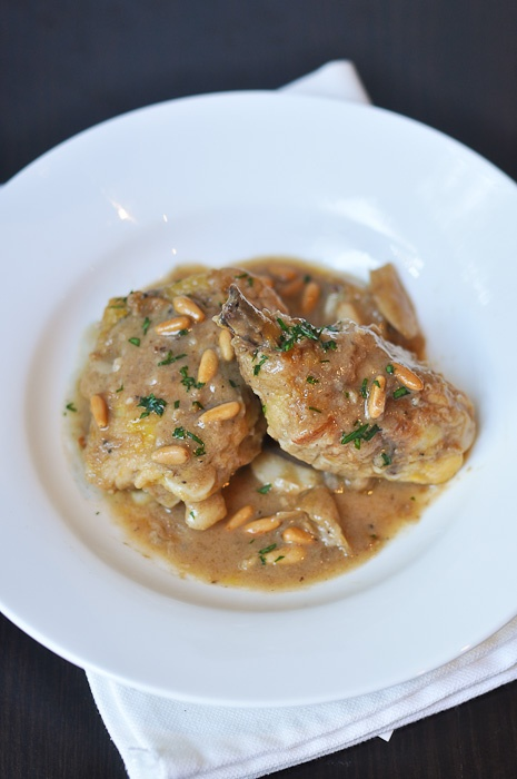 Chicken with Brandy and Pine Nuts | Sensual indulgence | Pinterest