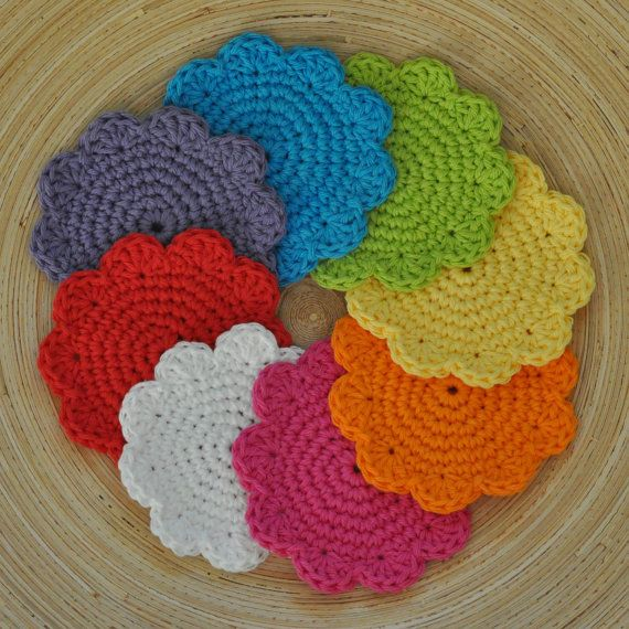 Cotton Crochet Patterns : PDF Super Simple Cotton Coasters Crochet Pattern