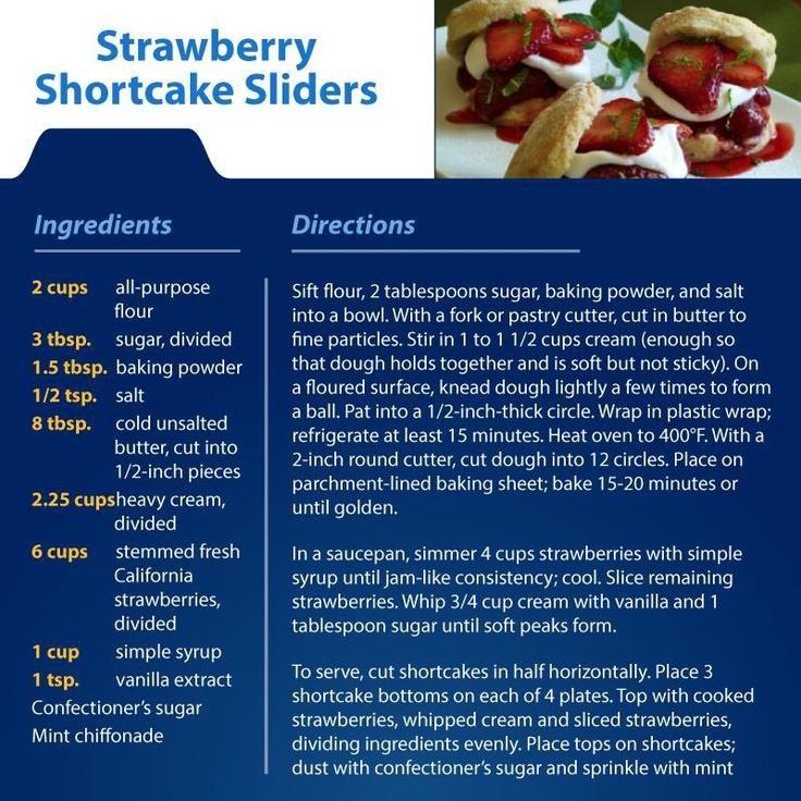Strawberry Shortcake Sliders | Recipes I'd like to try | Pinterest