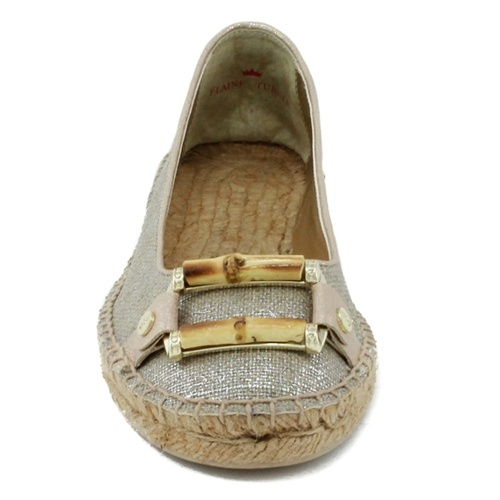 Elaine Turner, designer of this shoe (Blaire - Metallic Linen) is our