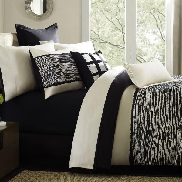 black cream bedding dorm room pinterest