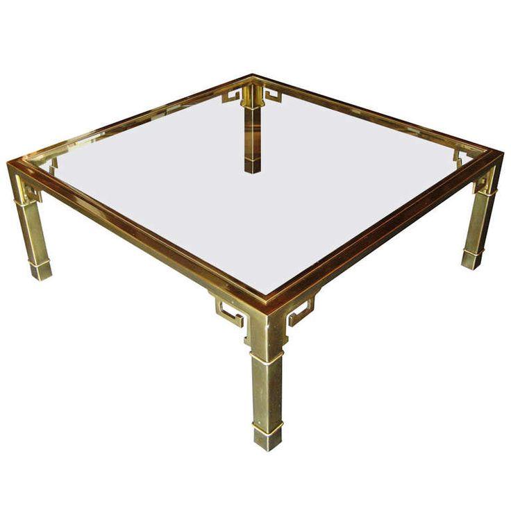 Mastercraft Square Brass Coffee Table 42 X 42 2 000 Pasadena TX