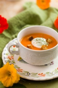 Butternut Squash Soup with a Nutmeg Cream