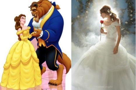 disney princess wedding dresses belle all dressed in white pinter