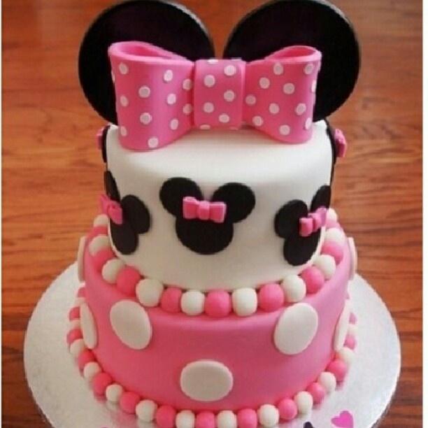 Minnie Mouse cake  2nd Birthday  Pinterest