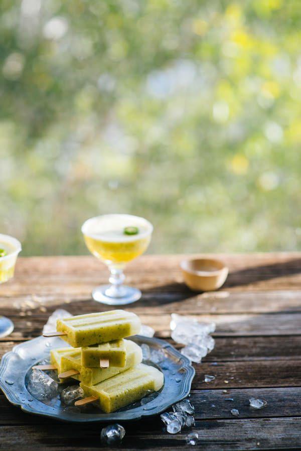 Pineapple Margarita Ice Pops | Tasty Dessert | Pinterest