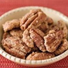Sugar Coated Pecans- switch out the sugar for xylitol