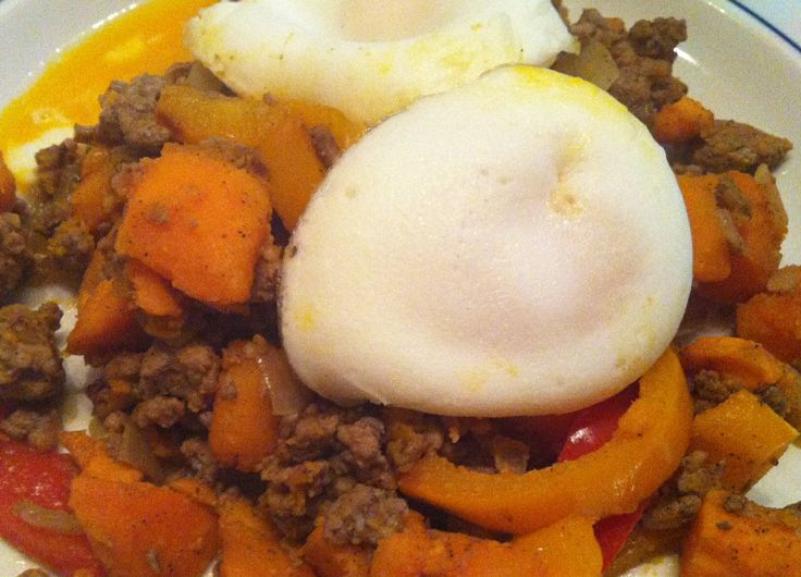 Paleo Yam & Ground Turkey Hash | Low Carb/low GI | Pinterest