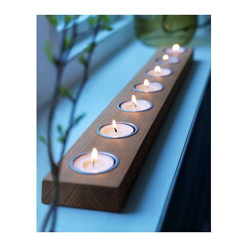 h llare tealight holder for 7 tealights dark brown. Black Bedroom Furniture Sets. Home Design Ideas