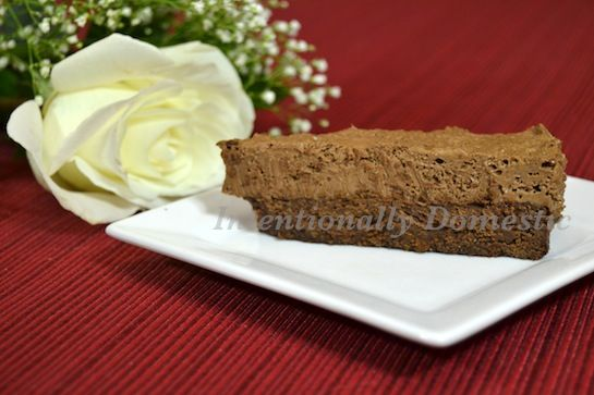 Chocolate Brownie Mousse Cake (S) Use chocolate chips that are ...