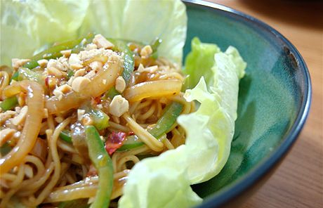 Peanut Sesame Noodles, I would add some tofu and more veggies
