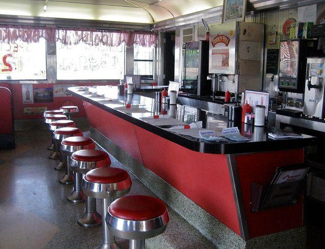 Vintage diner interior diners pinterest