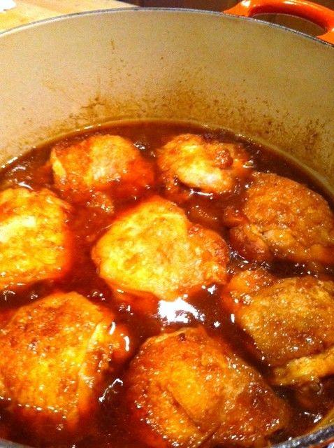 Chicken with Peach & Bourbon BBQ Sauce | Food-Chicken | Pinterest