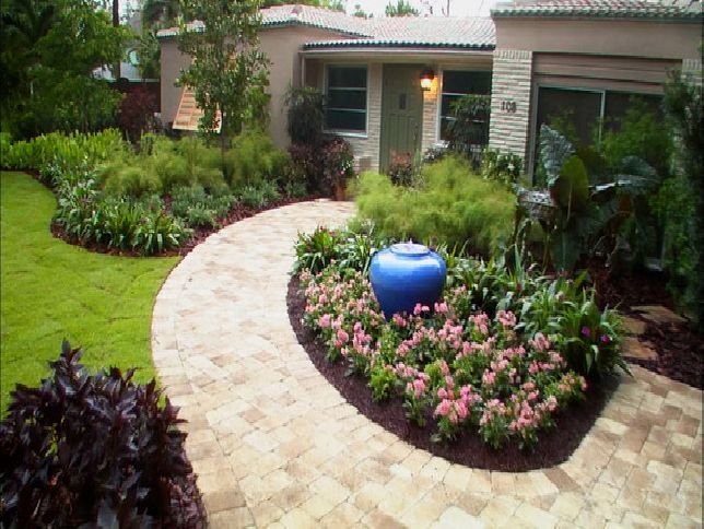 Pin by kim moushon on front yard patio pinterest for Low maintenance front yard landscaping