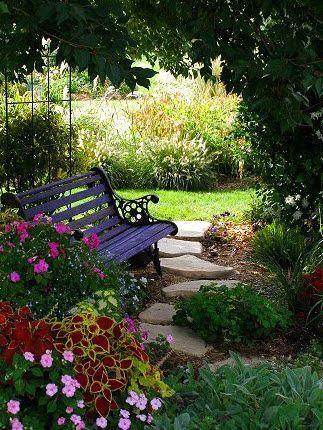 Shade Garden Ideas Backyard Landscape Pinterest