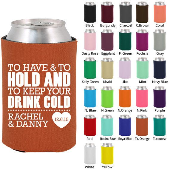 Wedding Beer Coozies Clipart 1806 To Have And To Hold Koozie
