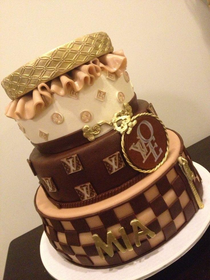 Cake Louis Vuitton Pinterest : Pin Pin Louis Vuitton Chanel Gucci Birthday Cakes Cake On ...