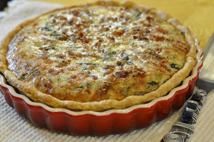 Bacon, Swiss Chard and Havarti Quiche | Breakfast | Pinterest