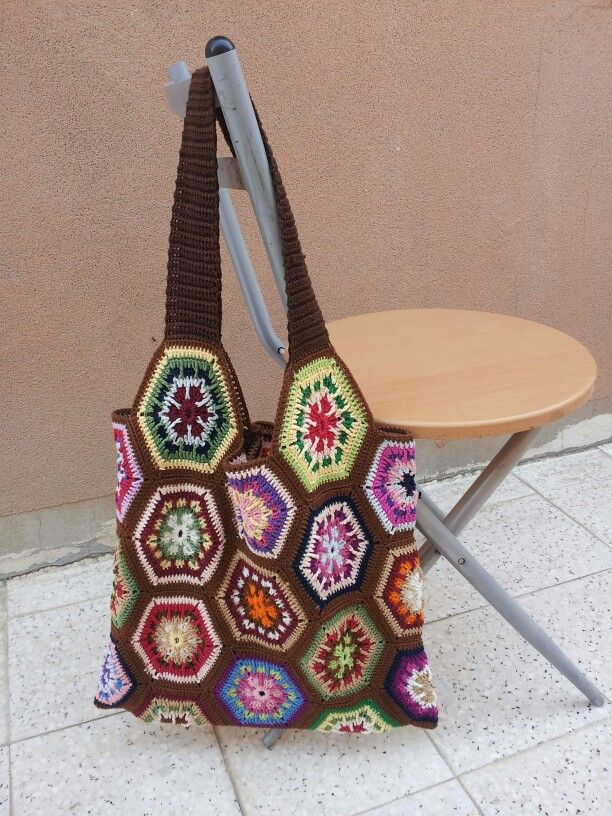 crochet hexagon bag Sewing Pinterest