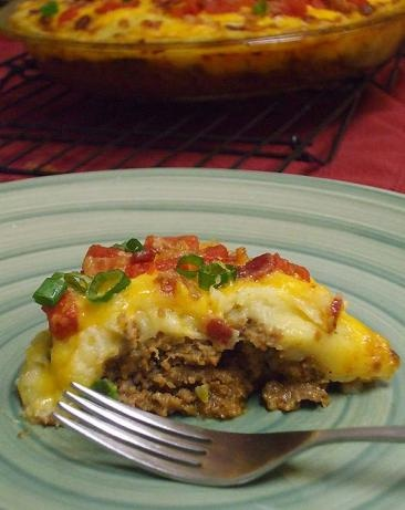 """Bacon-Cheeseburger Potato Pie: """"My husband and father-in-law love this! It's a bit time-consuming, but worth the spectacular results."""" -Amanda Beth"""