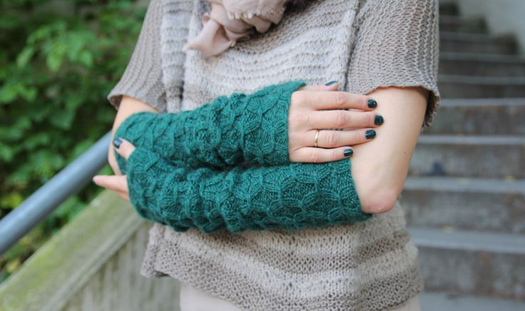 arm warmers- free pattern on pickles Knitted Arm/Leg Warmers Pint?