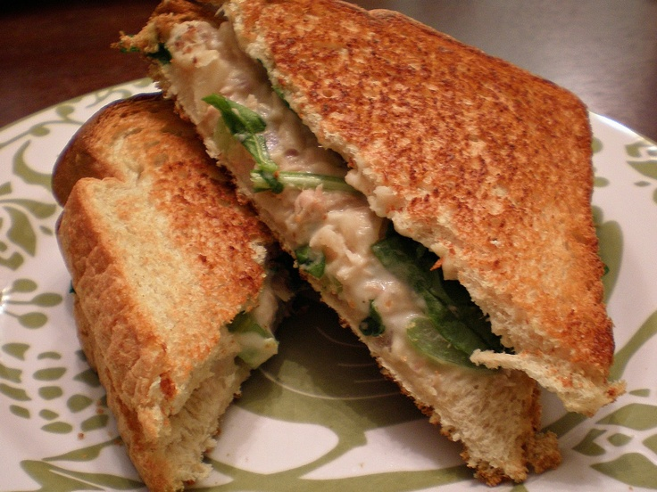Basil Development: Skinny White Bean Tuna Melt