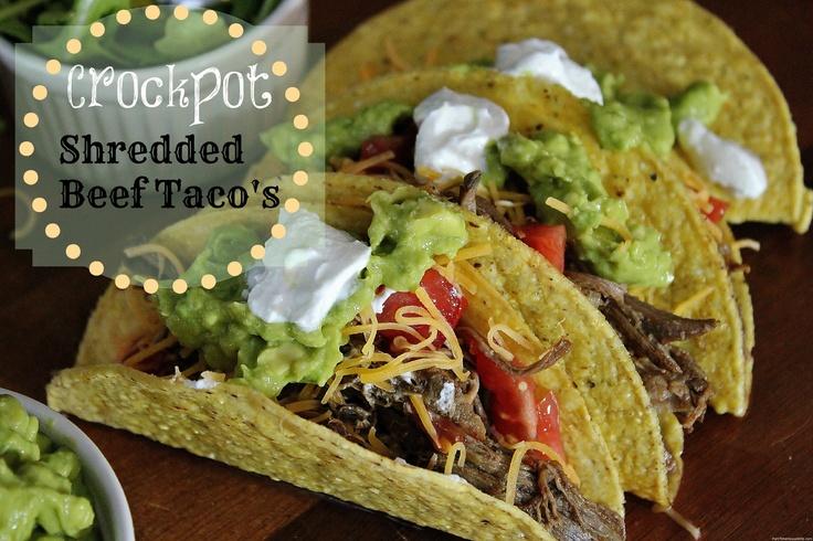 Crockpot Shredded Beef Tacos | Food-Looks Yummy | Pinterest