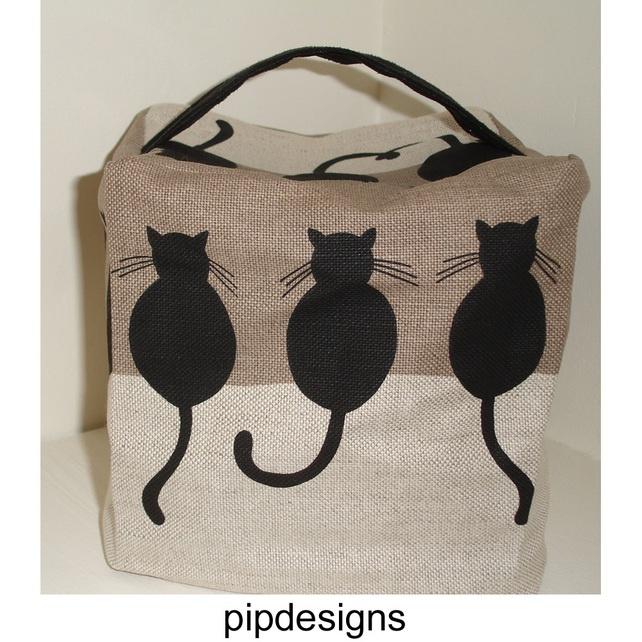 Black cat cats door stop doorstop kitties pinterest - Cat door stoppers ...