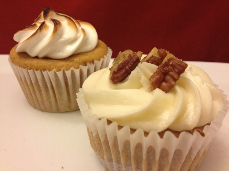 Sweet Potato Cupcakes with toasted marshmallow or Marscapone cream ...