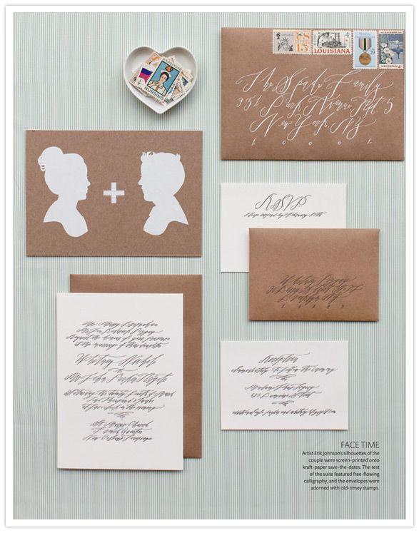 Letterpress calligraphy invitations