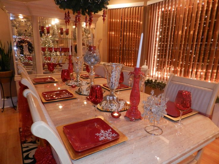 Dining Room Table 2013 Christmas Decorating Ideas