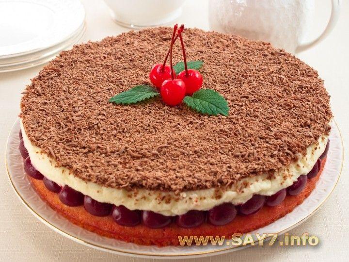 Торт с вишнями рецепт
