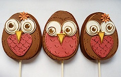 Nevie Pie Cakes Owl Cookie-pops! | Cookies and Cupcakes | Pinterest
