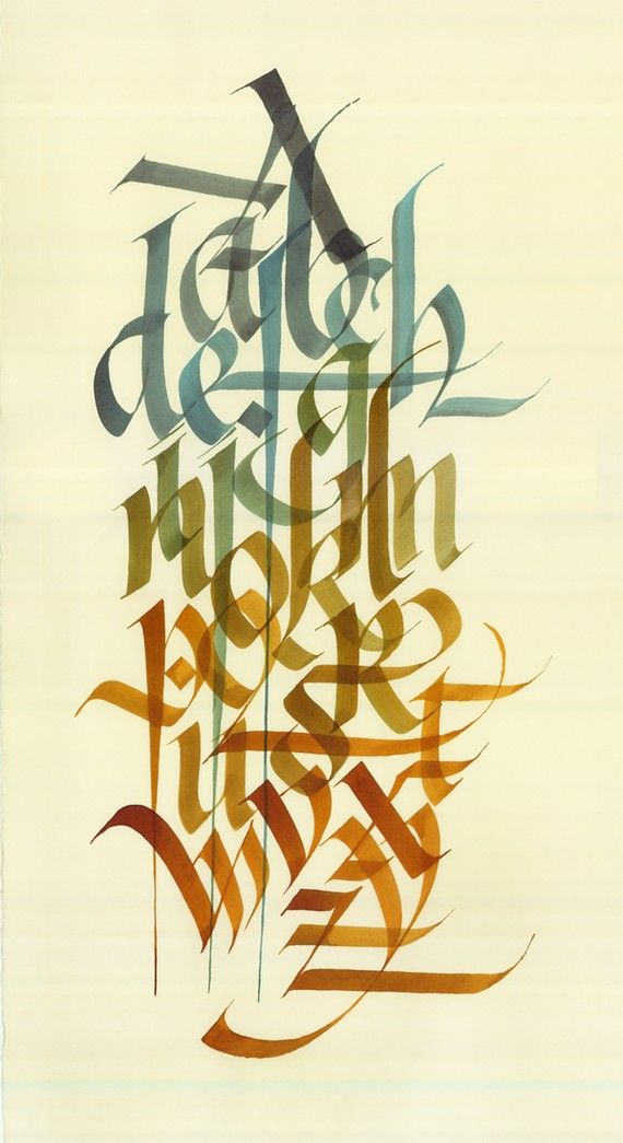 Original Alphabet In Hand Calligraphy